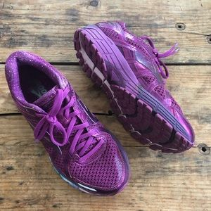 Brooks GTS 9 Adrenaline 17 Purple Sneakers Running